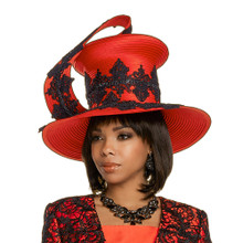 Donna Vinci Red / Black Hat 11738R