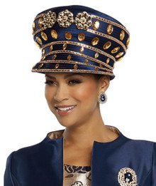 Donna Vinci Navy / Gold Hat 11799