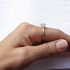 Portia Brilliant Cut diamond cluster engagement ring
