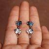 Portia Cluster Gemstone Earrings