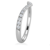 Victory Chevron Diamond Wedding Band