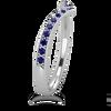 Womens Sapphire Chevron Wedding Band