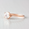 Clementine Pinch Band Solitaire Ethical Engagement Ring