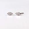 Nature Inspired Cherry Leaf Ethical Diamond Earrings