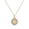 Petite Ethical Diamond And Yellow Gold Vintage Charm Necklace