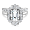 Laura Preshong Engagement Ring - Ethical Diamond Vintage Halo Ring
