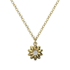 daisy gold and diamond necklace