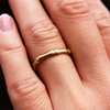 Bamboo Motif  Gold Ring
