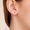 Tiny Square Earring 14K RG
