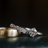 Men's Wedding Band Torn Edge Detail