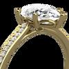 Elsie ethical pear cut diamond engagement ring