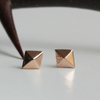 Diamond Charm Gold Earrings | Laura Preshong Ethical Fine Jewelry