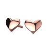 Heart Charm Earrings delicate daily essential solid gold earrings