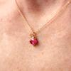 Mayfair Ruby Oval Gemstone Necklace