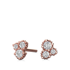 Canadian diamond cluster earrings in rose gold, yellow gold or white gold
