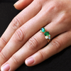 Mayfair Oval Emerald Stacking Ring