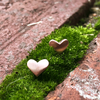 Heart Charm Earrings - Rose Gold