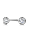 Tiny Dot Diamond Earring White Gold