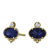 Mayfair Ethical Iolite Yellow Gold Earrings