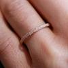 Women's Chloe Petite Ethical Eternity Pave Diamond Wedding Band