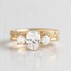Abigail Oval Cut 3-Stone Ring
