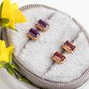 Alissa Amethyst Earrings - Rose Gold