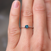 Fay London Blue Topaz Stacking Ring - White Gold