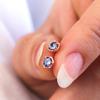 Loie Petite Hexagon Earrings