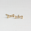 Emma Bow Earrings Gold and Diamond