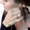Ethical bamboo inspired stacking rings