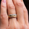 Ethical bamboo inspired stacking ring