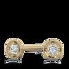 Tiny Dot Diamond 14K Yellow Earring