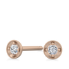 Tiny Dot Diamond Earring - Rose Gold