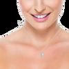 Crescent Moon Diamond Necklace