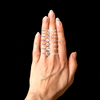 Natalia Ethical Diamond Baguette Halo Ring