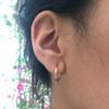 Olive Petite Oval Hoop Earrings
