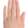 Laura Preshong Ethical Engagement Ring - Molly Ethical Diamond Cushion Cut Diamond Halo Ring