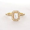 Molly Ethical Diamond Halo Ring Wedding Band