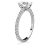 Laura Preshong Engagement Ring - Charlotte Brilliant Cut Diamond Band Engagement Ring