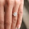 Ethical Engagement Ring Ethical Diamond Halo Ring Vintage