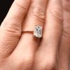 Callista Emerald Cut Ethical Engagement Ring