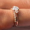 Penelope Beaded Bezel Half Set Wedding Ring