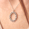 white gold infinity wreath necklace