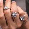 Freda Brilliant Cut Engagement Ring