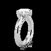 Ethical Engagement Ring Fleur De Lys Solitaire