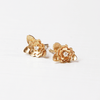 Dainty Rosette Ethical Canadian Diamond Stud Earrings 14K Solid Gold