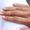 Delicate ethical stacking rings