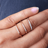 Delicate gold, and diamond or gemstone stacking ring
