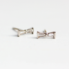Emma Bow Earrings White Gold and Diamond