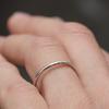 Womens Wedding Band Thin Round Tapered